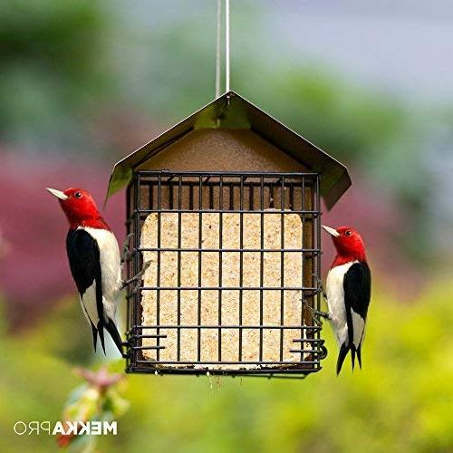 MEKKAPRO Bird with Hanging Metal Roof, Capacity, Recommended