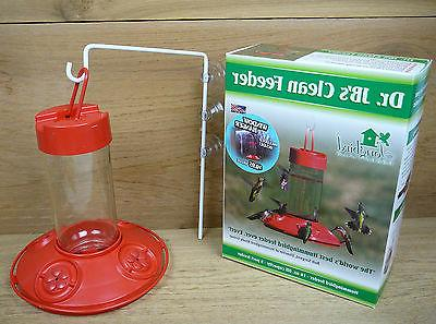 Dr. JB's Window Hanging Clean Hummingbird Feeder Red 16oz So