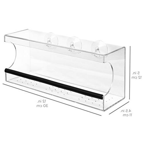 Best Wide Acrylic Feeder w/Padded Holes, Removable Clear