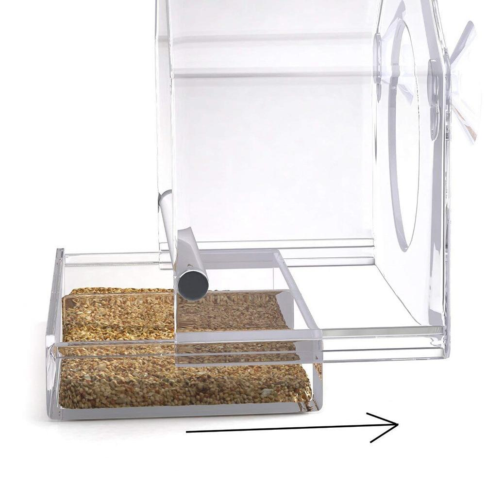 <font><b>Bird</b></font> <font><b>Feeder</b></font> Transparent Adsorption Innovative Cup