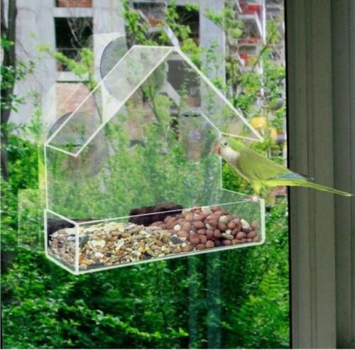 FREE SHIPPING Bird Feeder Acrylic Cup Clear NEW