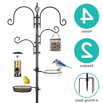BCP 91in 4-Hook Bird Feeding Station, Steel Multi-Feeder Sta