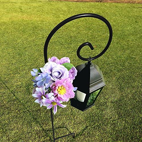 5 Pack Garden Hook 48 in Feeder Pole Plants Basket Stand in Outdoor Solar Light Wedding Decor Rust