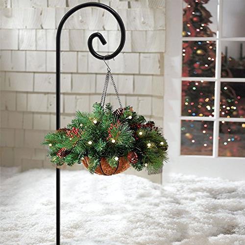 5 Hook in Feeder Pole Plants Basket in Outdoor Pathway Light Wedding Duty Rust
