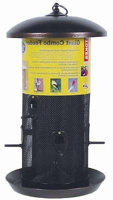 Stokes Select Giant Combo Bird Feeder with Two Seed Compartm