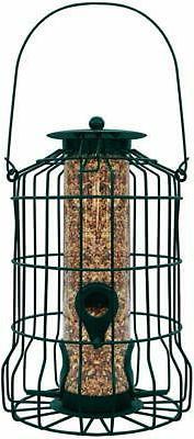 Gray Bunny GB-6860 Caged Tube Feeder Outdoor Birdfeeder for