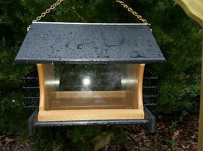 Hanging Bird Feeder & Suet Feeder w/Chain Poly Amish Yard Ga