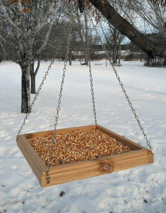 Hanging Feeder Tray - Wood