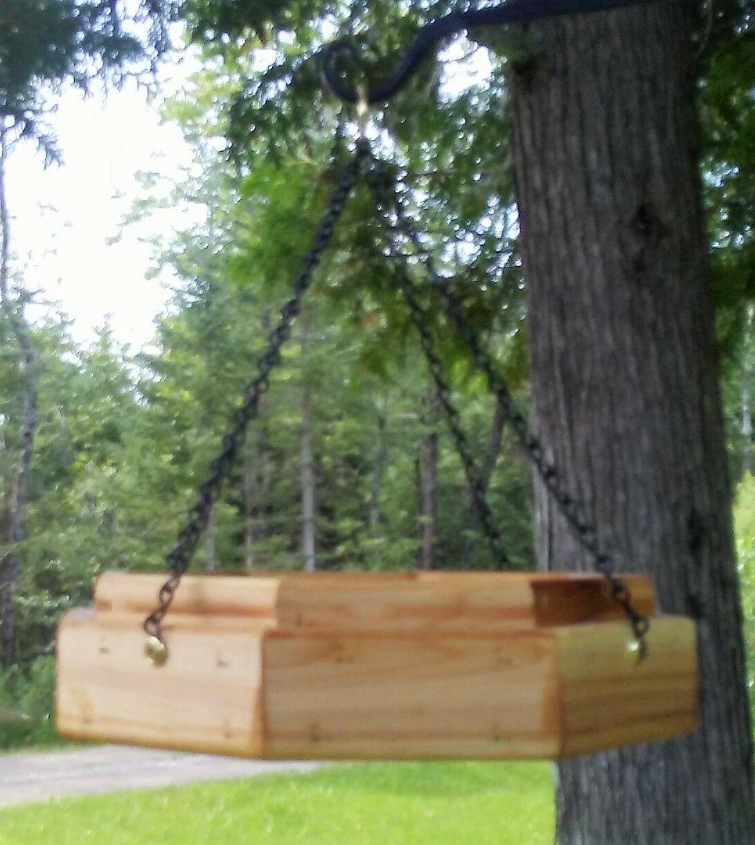 Handmade hanging octagon cedar wood TBNUP #1SM