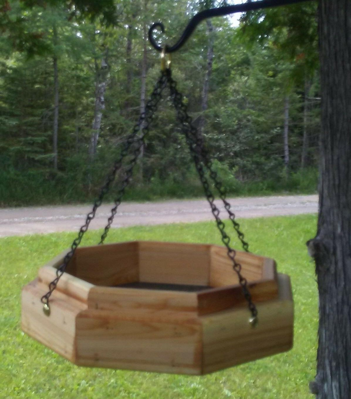 Handmade cedar wood bird/squirrel feeder, TBNUP #1S