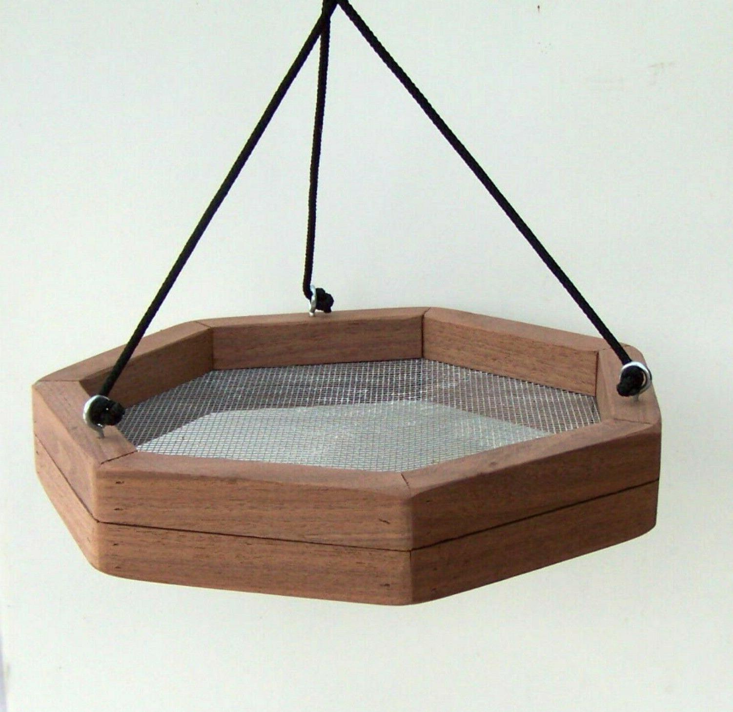Rustic Bird Hanging Wood Feeder ~ Feeder