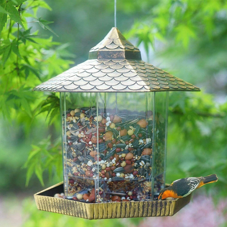 Hanging Bird Gazebo Bird Feeder and Garden