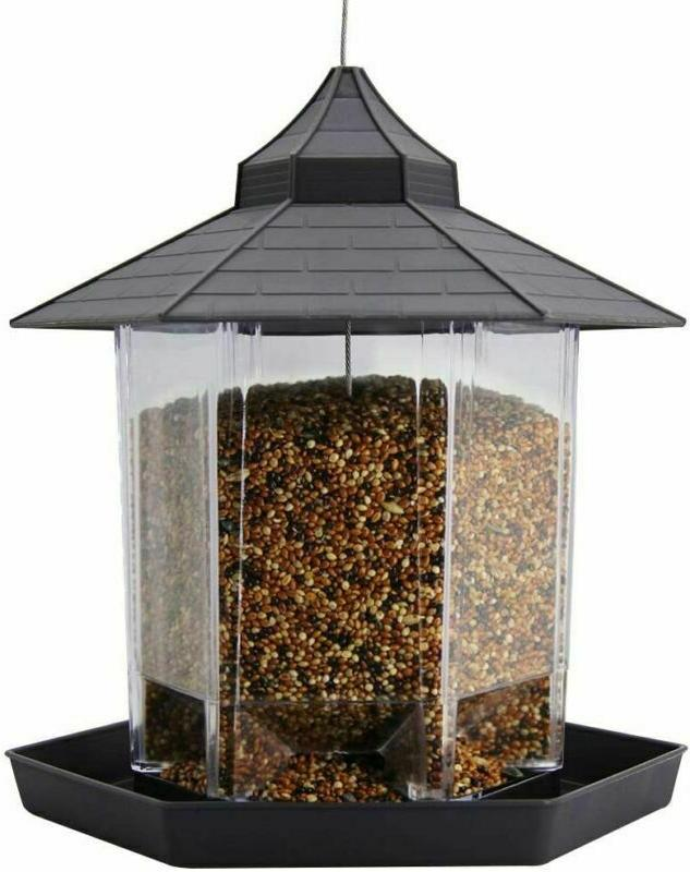 hanging wild bird feeder squirrel proof seed
