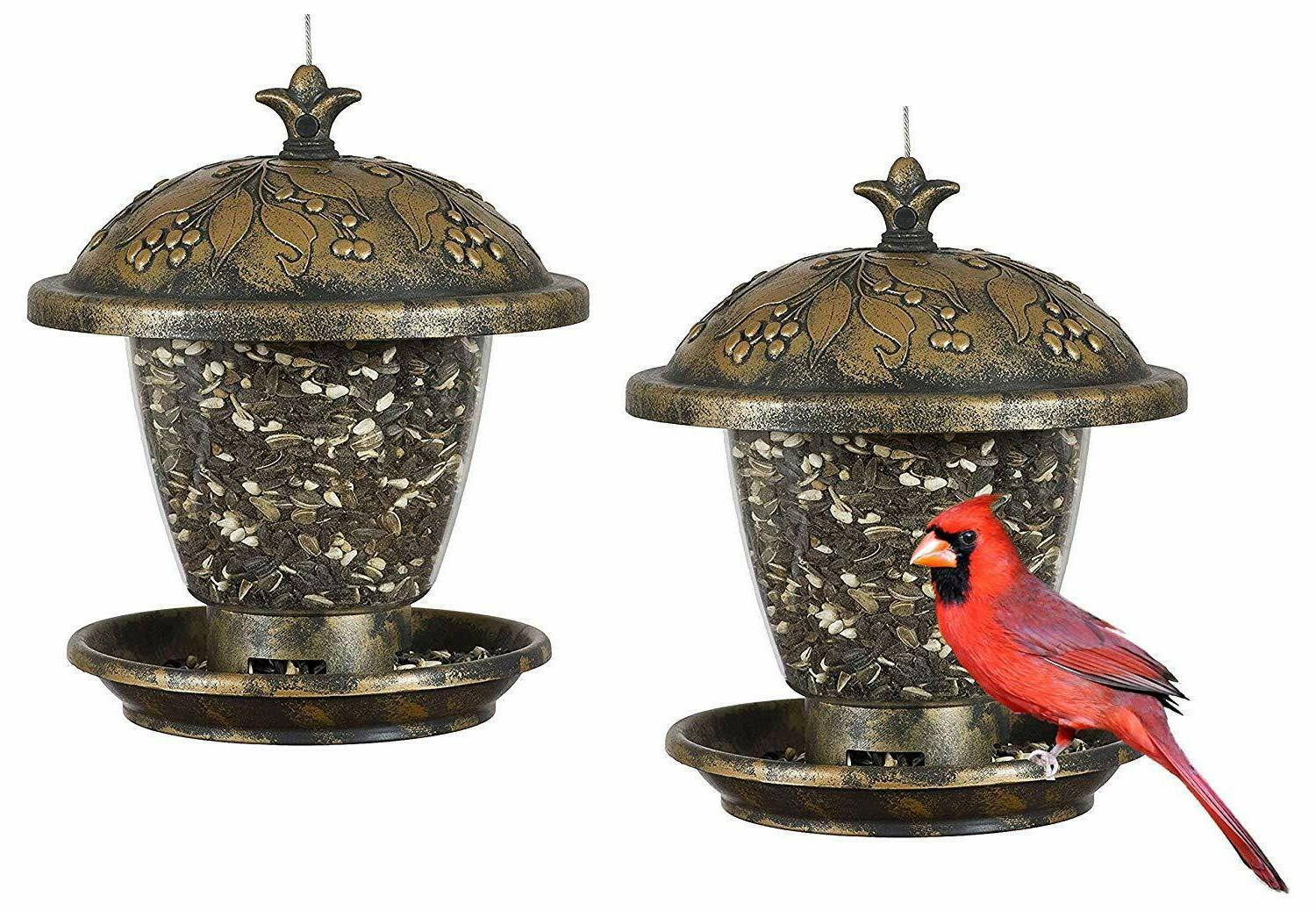 Perky-Pet 305 Holly Berry Gilded Chalet Wild Bird Feeder,2 l