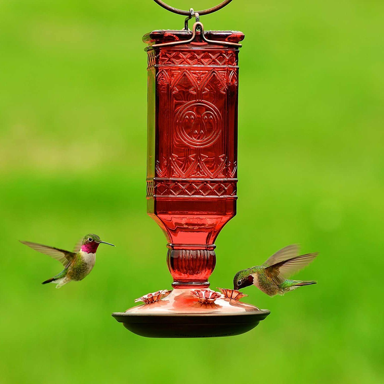 Hummingbird Glass Antique