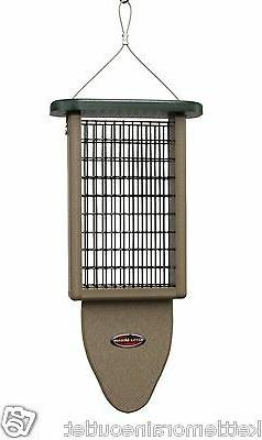 Kettle Moraine Recycled Double Suet Feeder with Woodpecker T