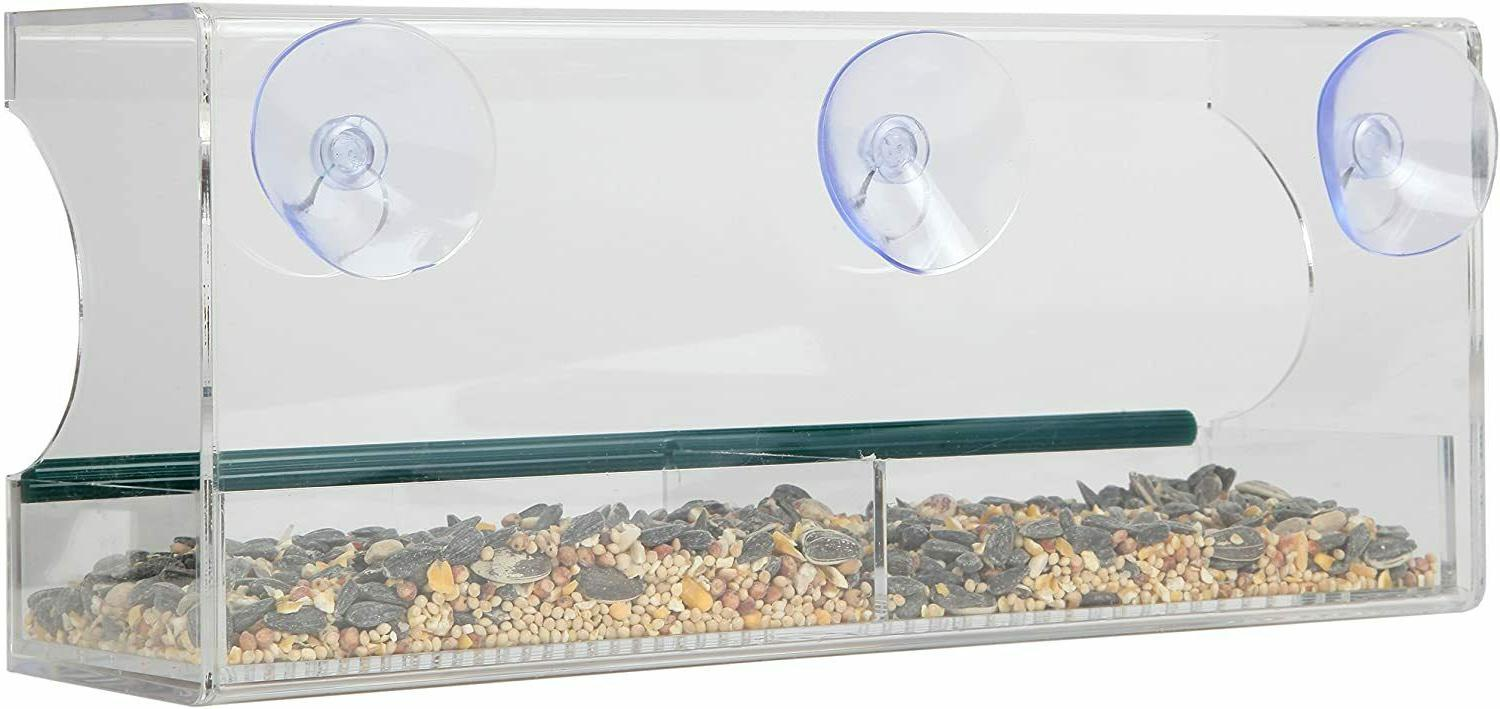 Large Bird Feeder Tray Cups Holes