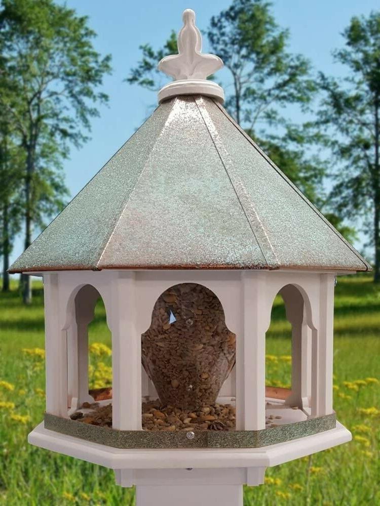 Large Bird Feeder Body Copper Roof USA Gazebo