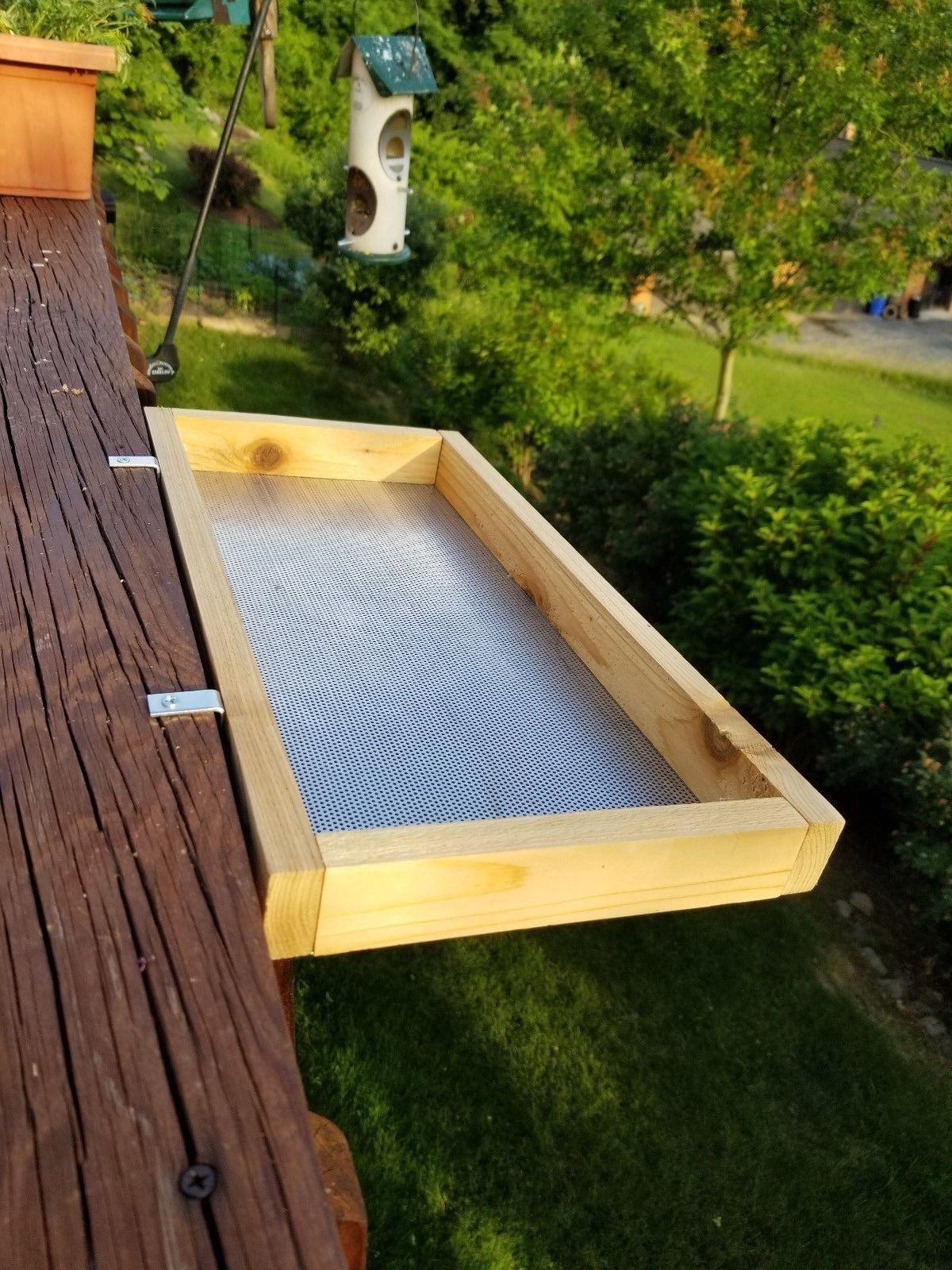 large size cedar platform bird feeder