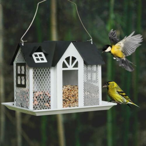 KINGSYARD Bird Feeder Metal Mesh Feeders Birdhouse