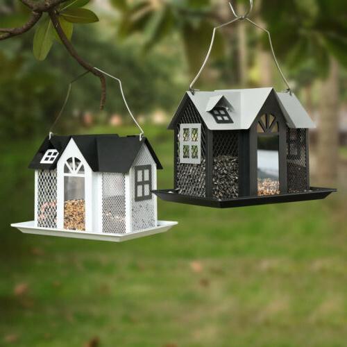 KINGSYARD Metal Mesh Feeders Outdoor Birdhouse