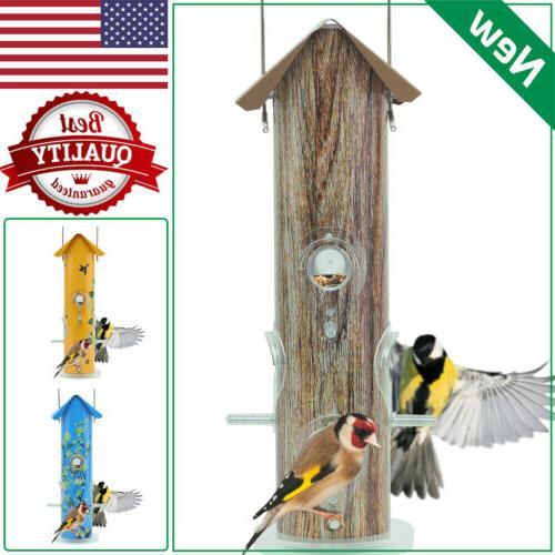 metal tube bird feeders lightweight squirrel proof