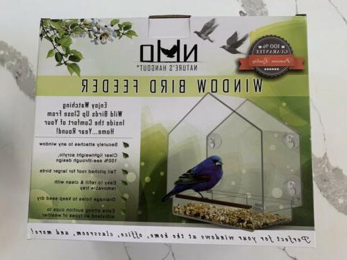 natures hangout window bird feeder new in