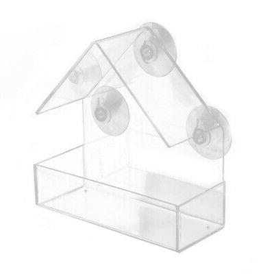 New Bird Feeder Acrylic Window with Strong Suction Cup Birdh
