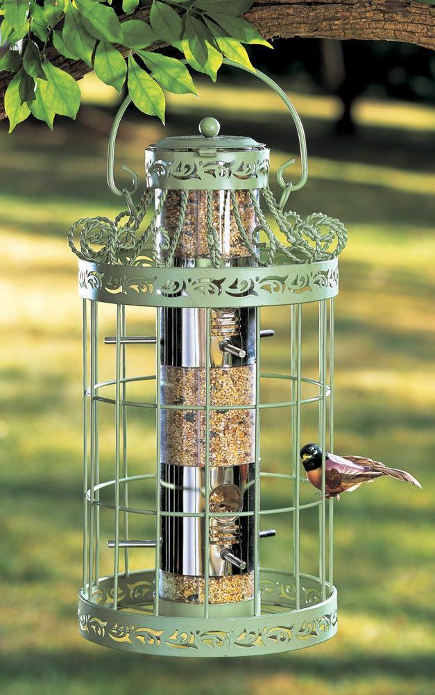 NEW Hanging Bird Feeder Seed Metal Wild Pet Outdoor Garden S