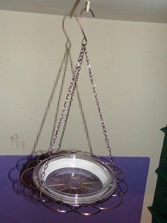 New in Bird Feeder Holder Wire Clear