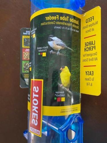 "New! Select Tube Bird Feeder Blue 18"""