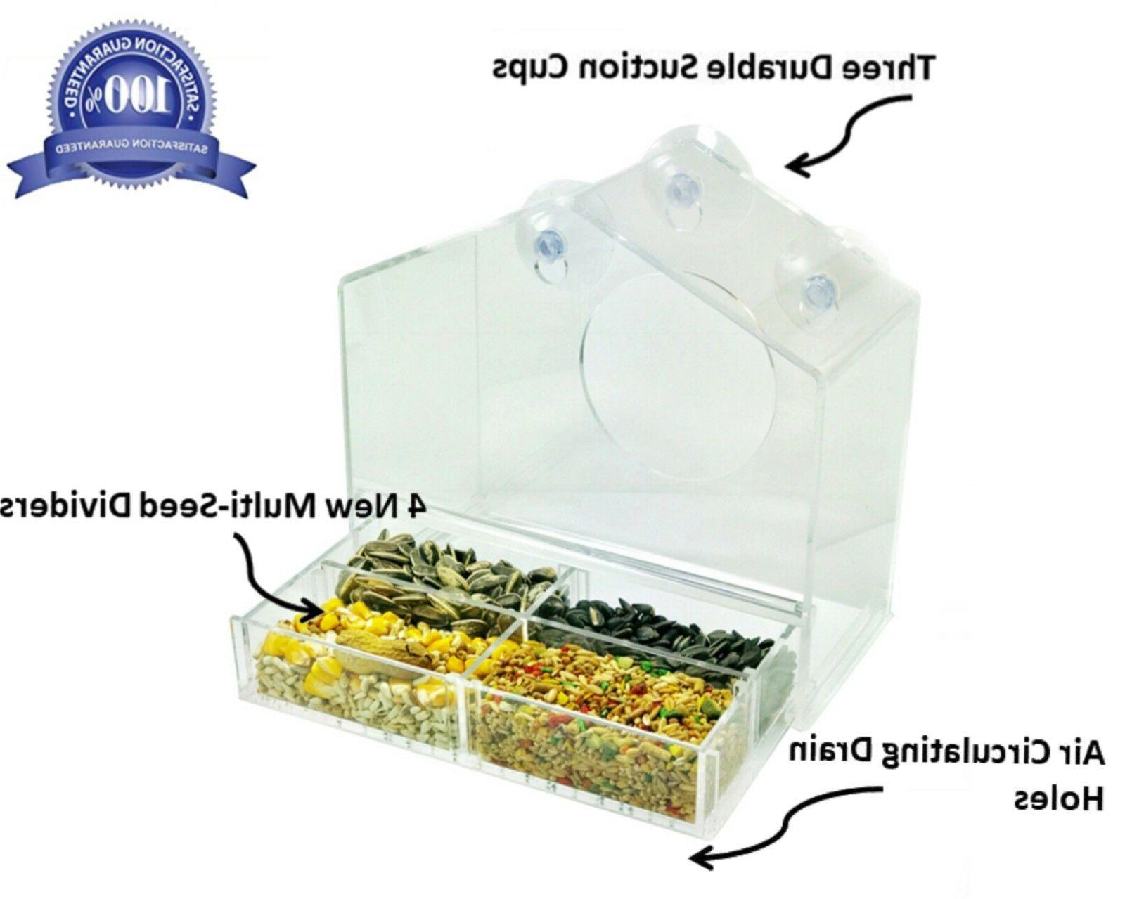 *New* Window Feeder 3 Large,Clear