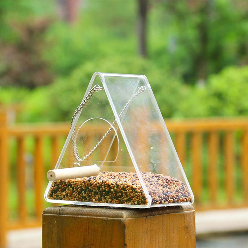 Newest <font><b>Feeder</b></font> Food <font><b>Feeder</b></font> With <font><b>Birds</b></font> Feeding Supplies Box Outdoor