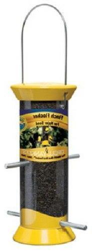 DROLL YANKEES INC Nyjer Bird Feeder, Yellow, 2.5-In. CJTHM8Y