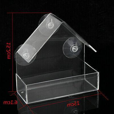 Outdoor Bird Acrylic Clear Cup Birdhouse