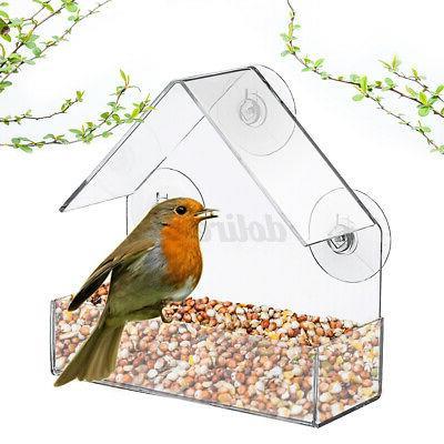 outdoor bird feeder window acrylic clear