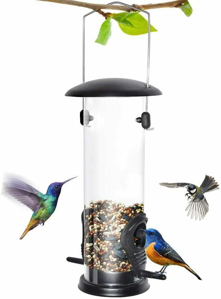 outdoor garden tube feeder with 6 feeding