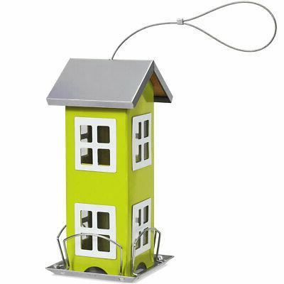 Outdoor Wild Bird Feeder Weatherproof House Design Garden De