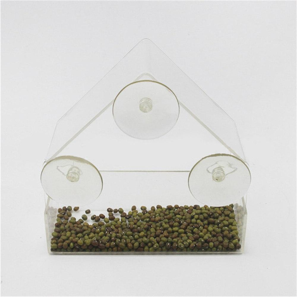 Parrot Lovebird Aviary Transparent Outdoor <font><b>Feeder</b></font> For <font><b>Birds</b></font> Container For Pet