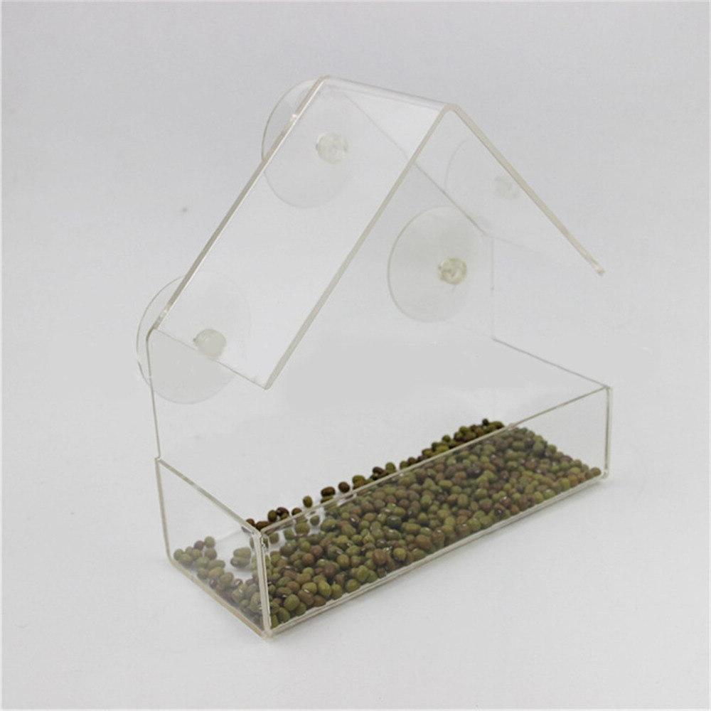Parrot Transparent Outdoor <font><b>Bird</b></font> <font><b>Feeder</b></font> Container For Food Pet Supplies