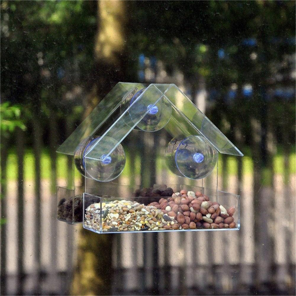 Parrot Lovebird Aviary Transparent <font><b>Feeder</b></font> For Pet Supplies