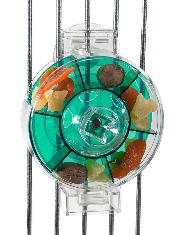 Parrot Pet Bird Toy Wheel Foraging Feeder for Treats Extra L