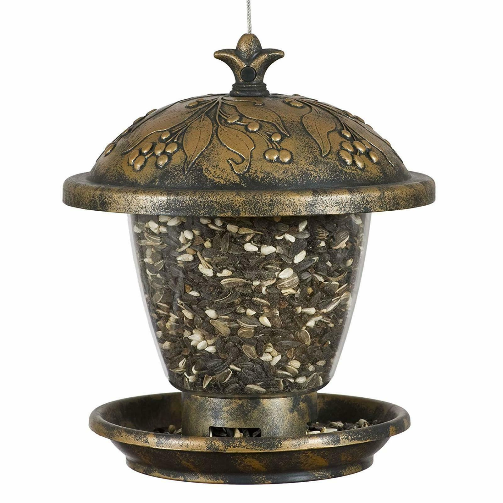 Perky-Pet 305 Holly Berry Gilded Chalet Wild Bird Feeder 2 L