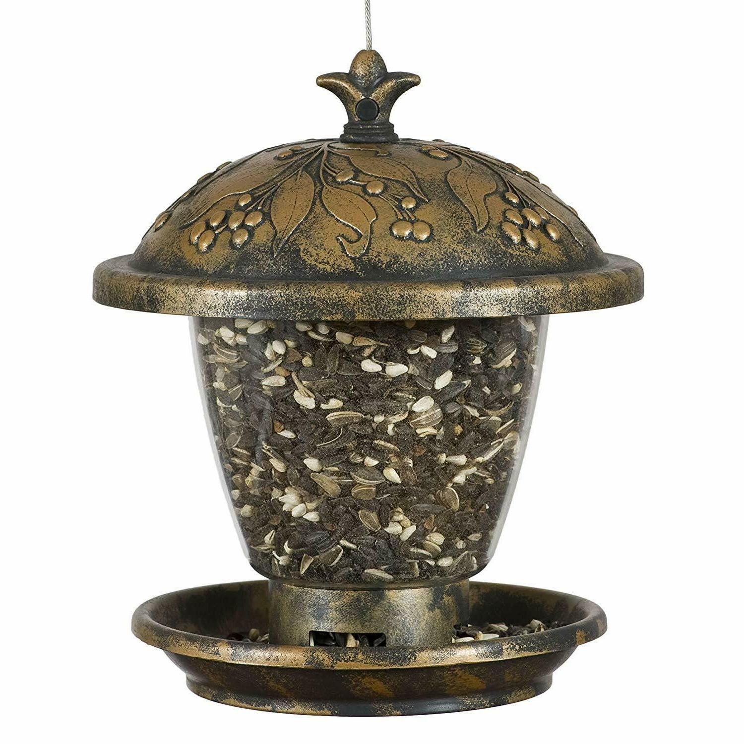 Perky-Pet Holly Berry Gilded Chalet Wild Bird Feeder Made of