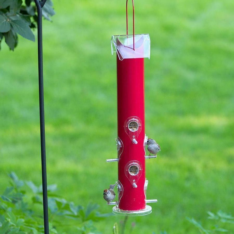 Perky-Pet Red Metal Tube 8 Feeding Removable Ports Hanging B