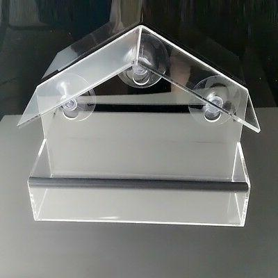 With Suction Transparent Indoor Bird Feeder
