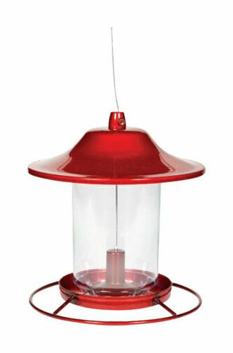 red sparkle panorama feeder