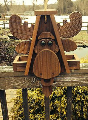 "Rustic Amish Crafted ""Moose Look"" Bird Feeder - Lancaster Cn"
