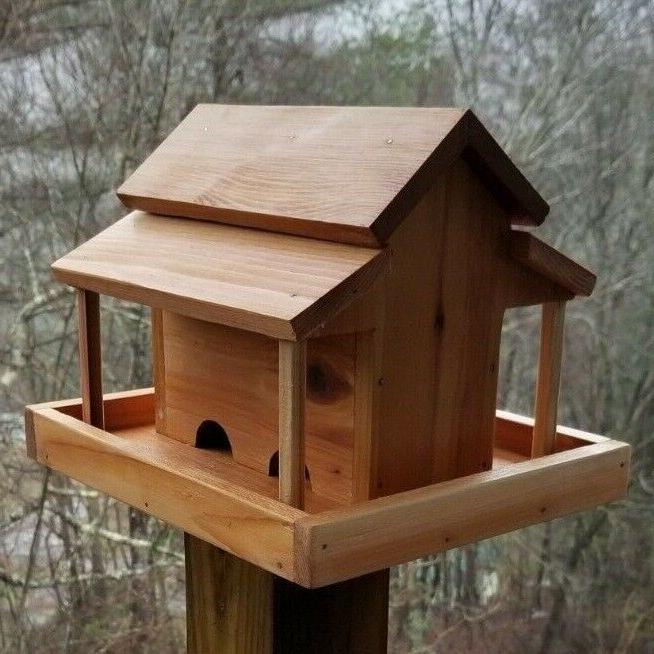Small Bird Feeder Wood Handcrafted in USA