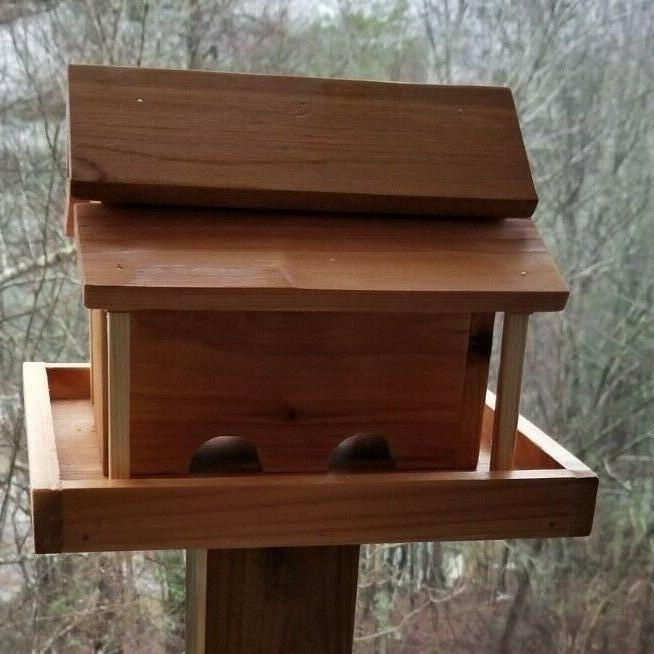 Small Barn Feeder Solid Cedar Wood Handcrafted